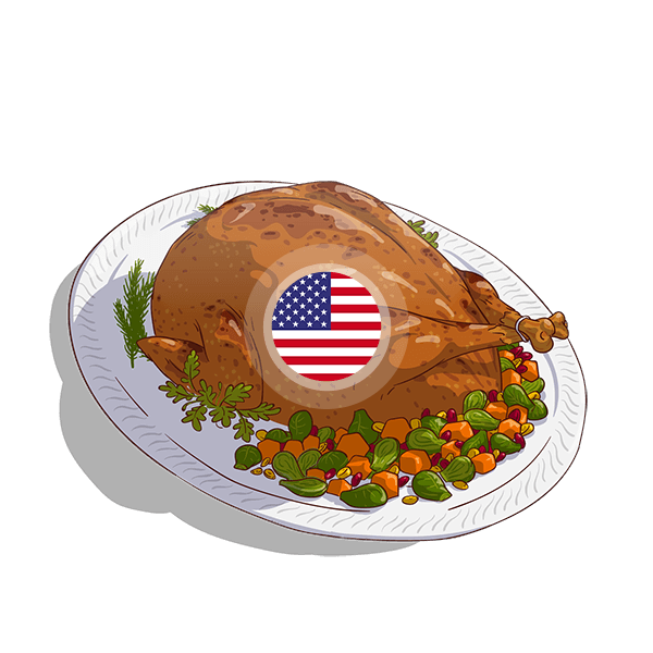 United Stated Turkey And Squash