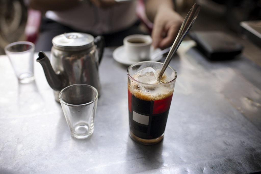 Iced coffee at a coffee house in Buon Ma Thuot, Vietnam