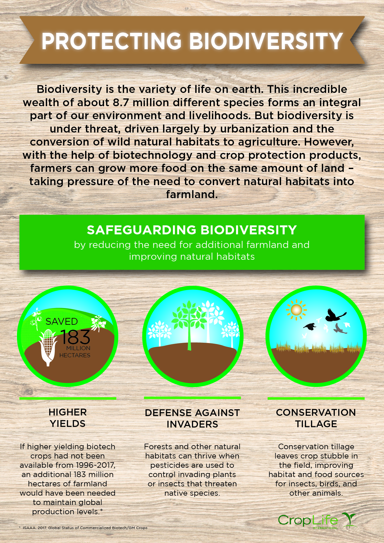 Safeguarding Biodiversity