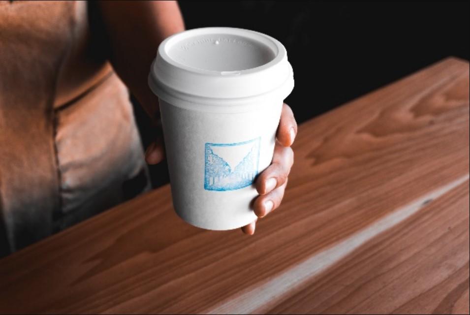 hand coffee cup